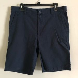 Five Four navy blue flat front shorts 34W classic